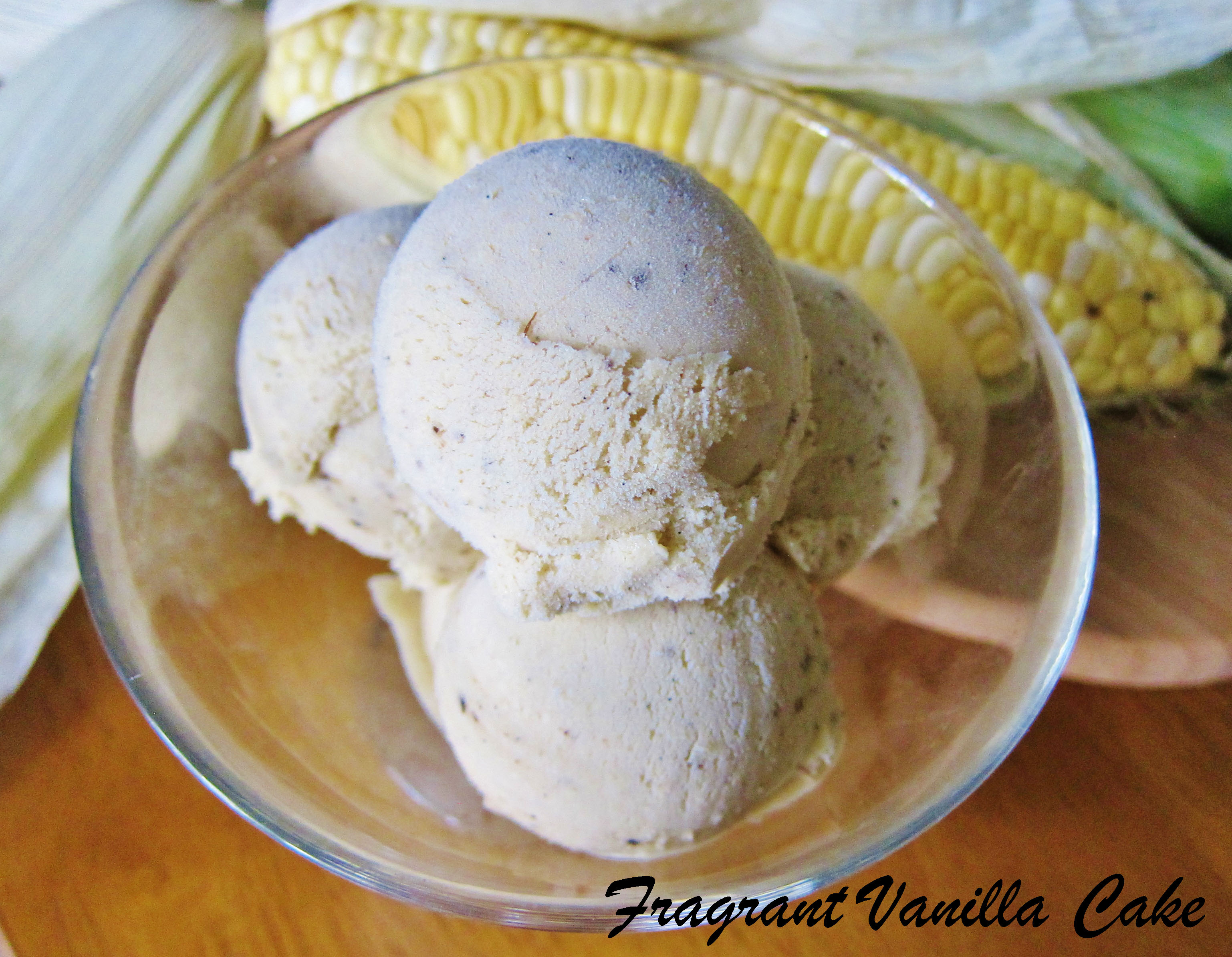 Simple Vegan Vanilla Maple Sweet Corn Ice Cream