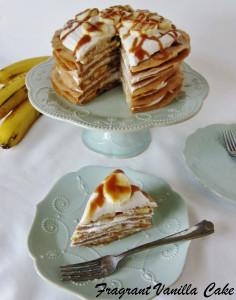 Vegan Banana Caramel Crepe Cake 2