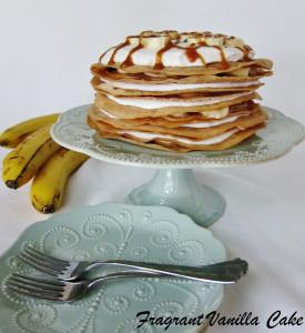Vegan Banana Caramel Crepe Cake
