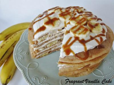 Vegan Banana Caramel Crepe Cake 3