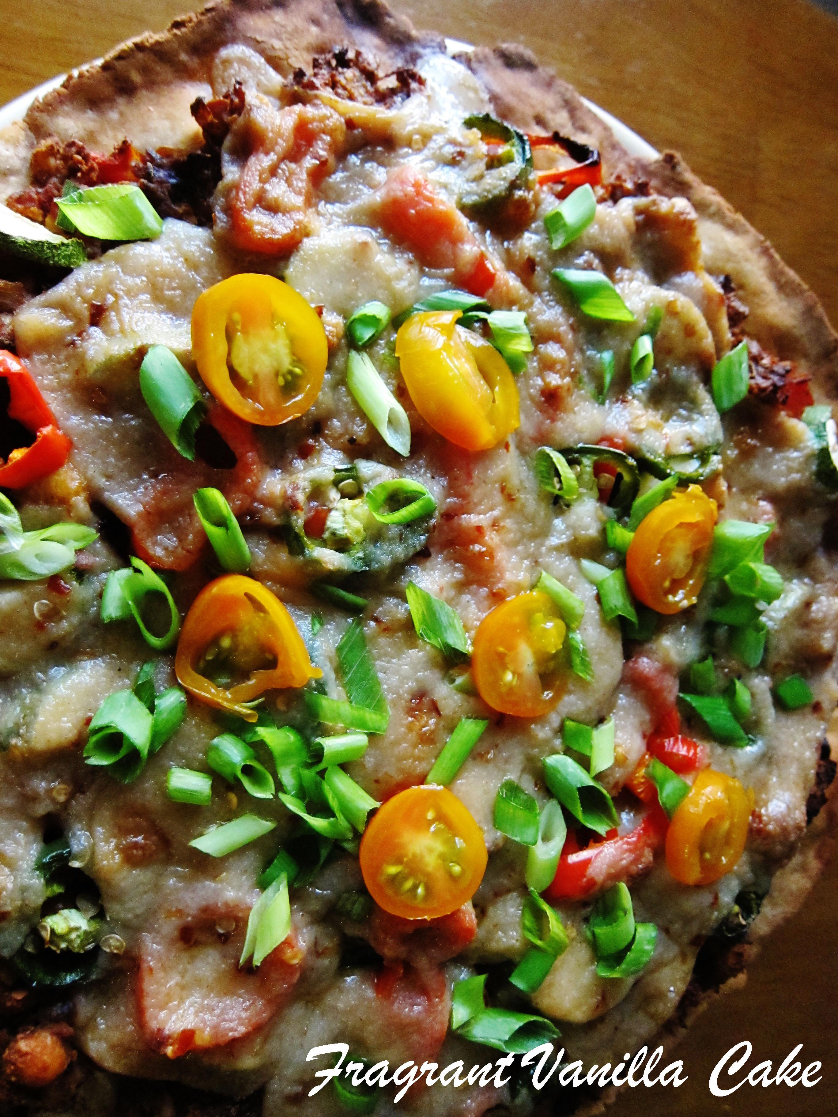 Vegan Spicy Chorizo Veggie Pizza