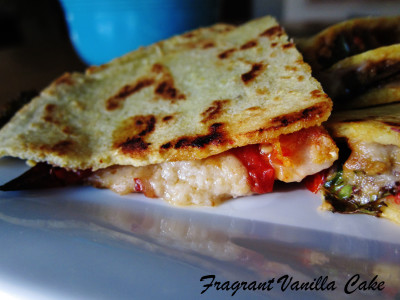 Vegan Roasted Tomato Kale Quesadillas 2