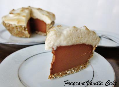 Vegan S'mores Peanut Butter Pie 1