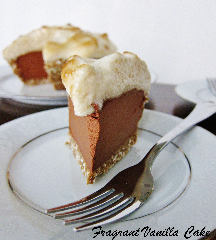 Vegan Peanut Butter S'mores Mousse Pie