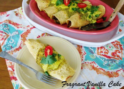 Vegan Veggie Lentil Enchiladas with Green Sauce 3