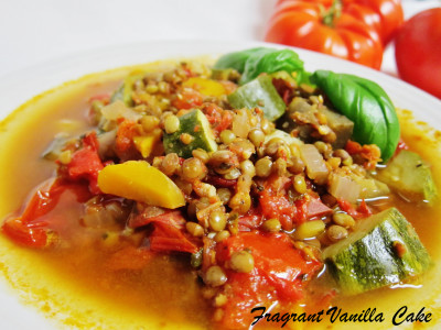 Italian veggie lentil soup