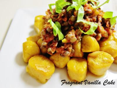 Lentil Ragout over Pumpkin Gnocchi 2