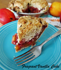 Nectarine Strawberry Lavender Cobble Pie 4