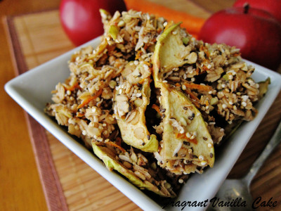 Raw Carrot Apple Granola 2