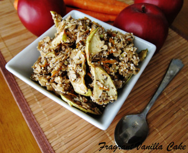Raw Carrot Apple Granola