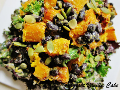 Roasted Pumpkin and Black Bean Salad with Groundnut Dressing 2