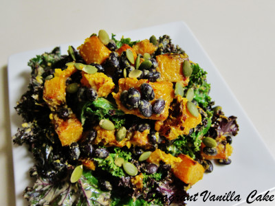 Roasted Pumpkin and Black Bean Salad with Groundnut Dressing 3