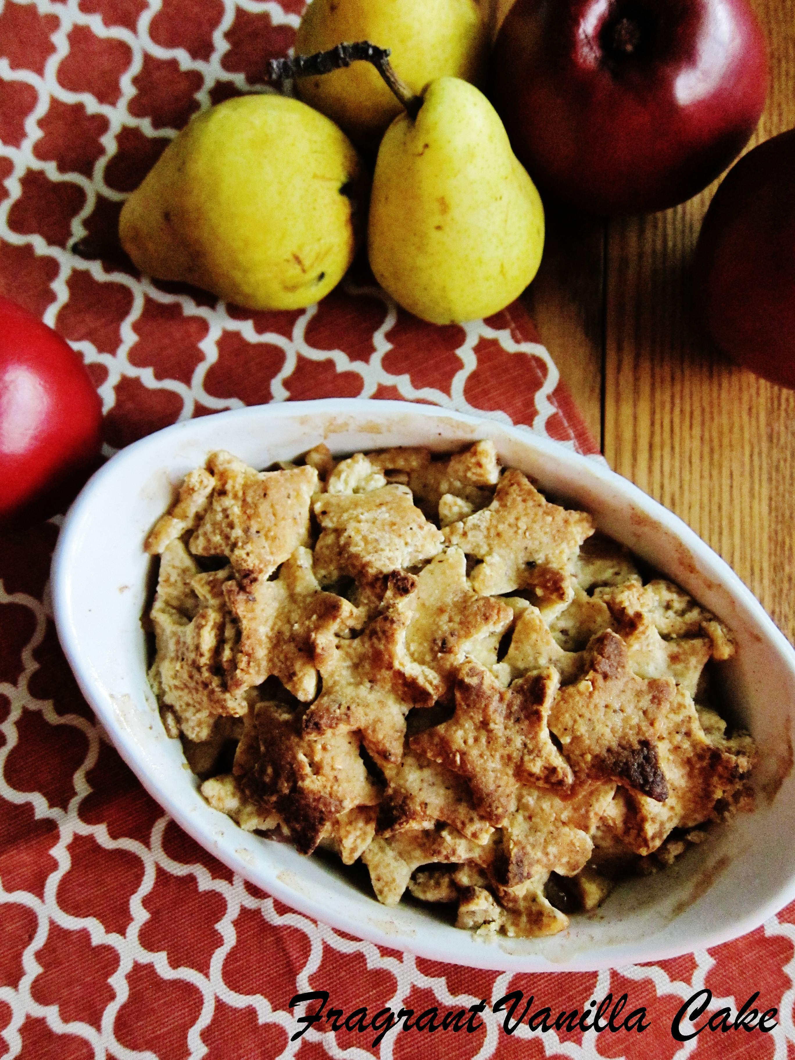 Vegan Cinnamon Apple Pear Pandowdy