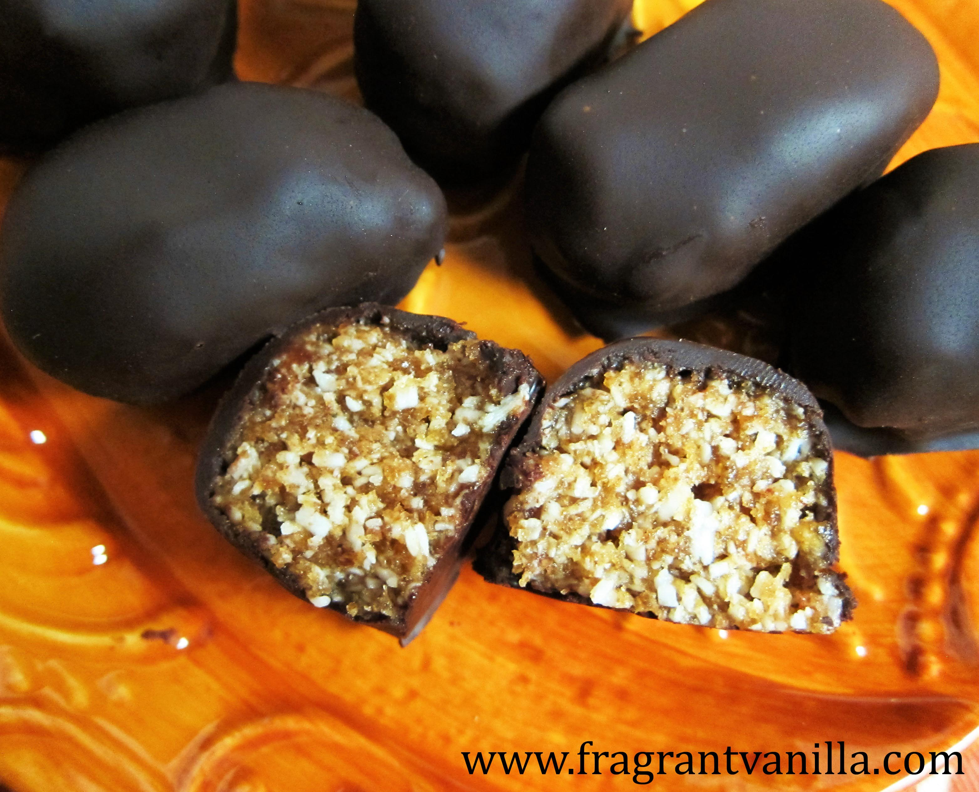 Mini Raw Salted Caramel Mounds Bars