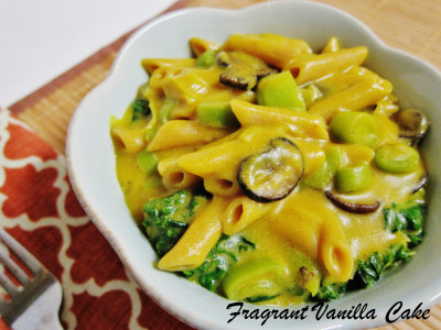 Creamy Pumpkin and Leek Pasta 2