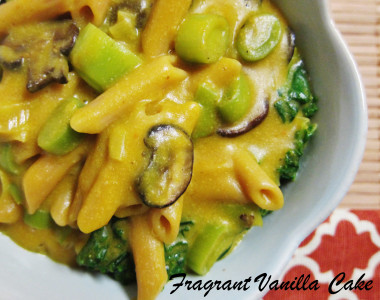 Creamy Pumpkin and Leek Pasta 3