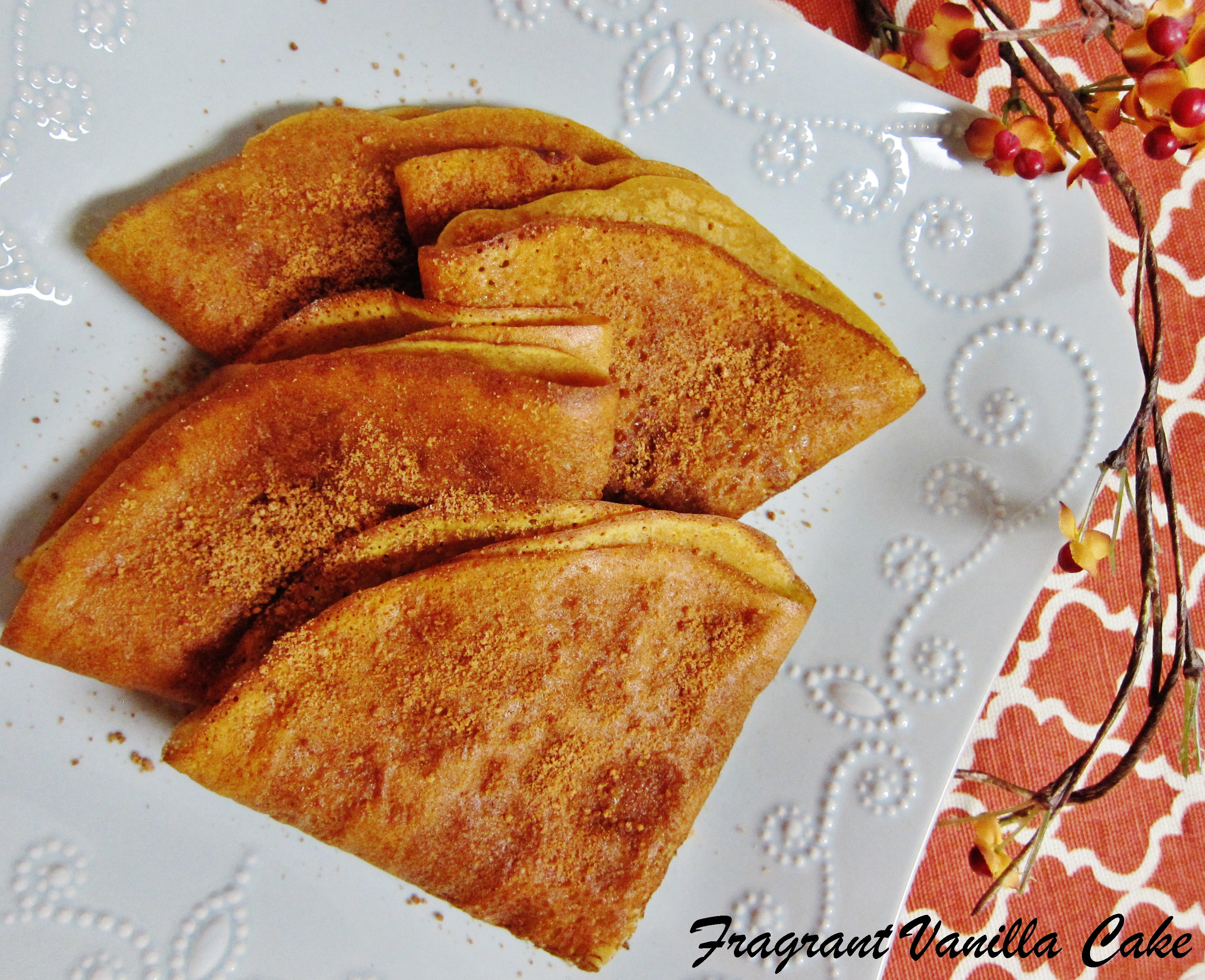 Vegan Pumpkin Spice Crepes