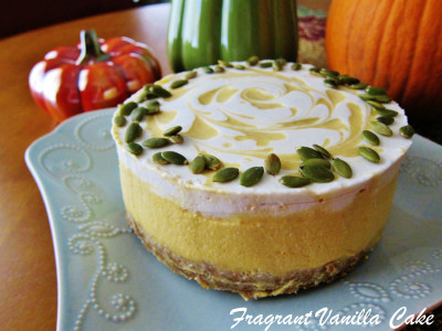 Raw Pumpkin Spice White Chocolate Cheesecake 2
