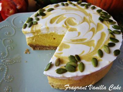 Raw Pumpkin Spice White Chocolate Cheesecake 3