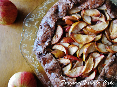 Vegan Crab Apple Rustic Tart with Gingerbread Crust 1