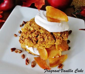 Vegan Pumpkin Apple Shortcakes