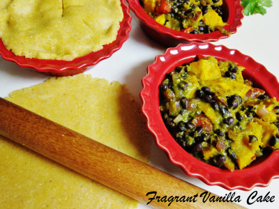 Vegan Roasted Squash and Black Bean Pot Pies 1