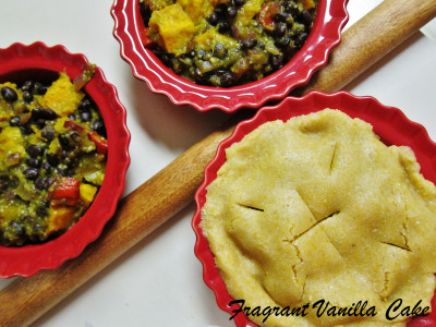 Vegan Roasted Squash and Black Bean Pot Pies