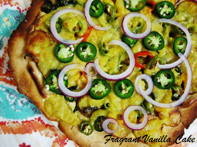 Vegan Spicy Roasted Potato and Pepper Pizza