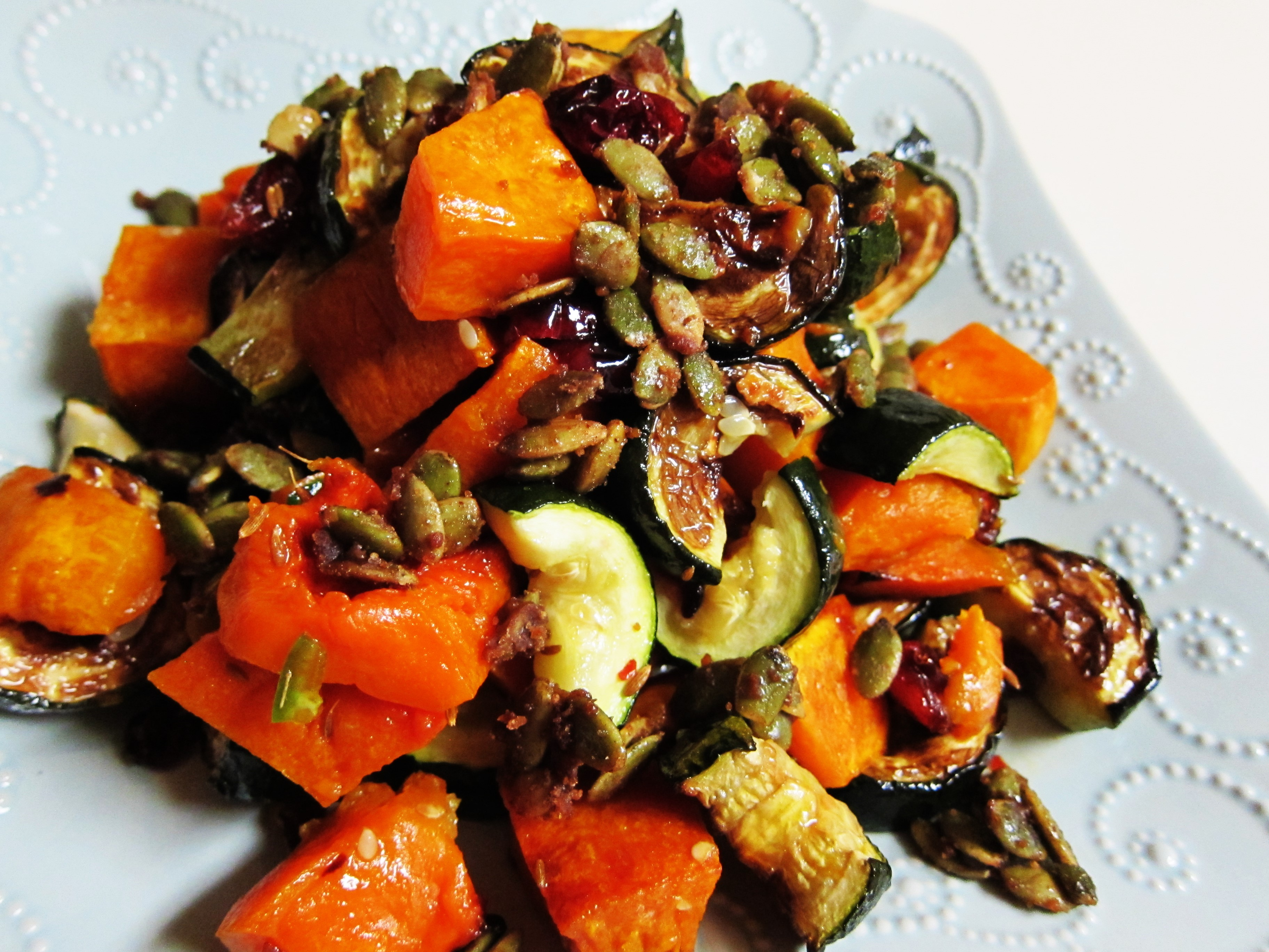 Sweet and Spicy Double Squash Salad