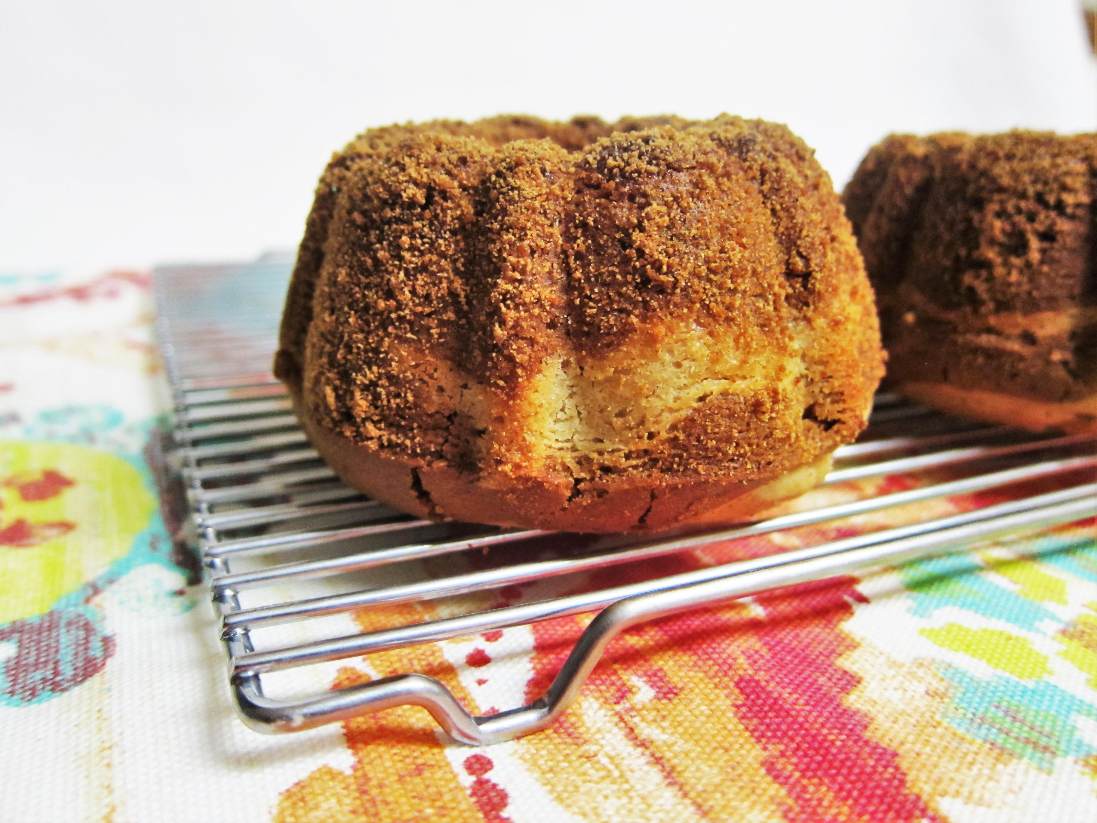 Mini Vegan Cinnamon Sugar Cream Cheese Bundt Cakes