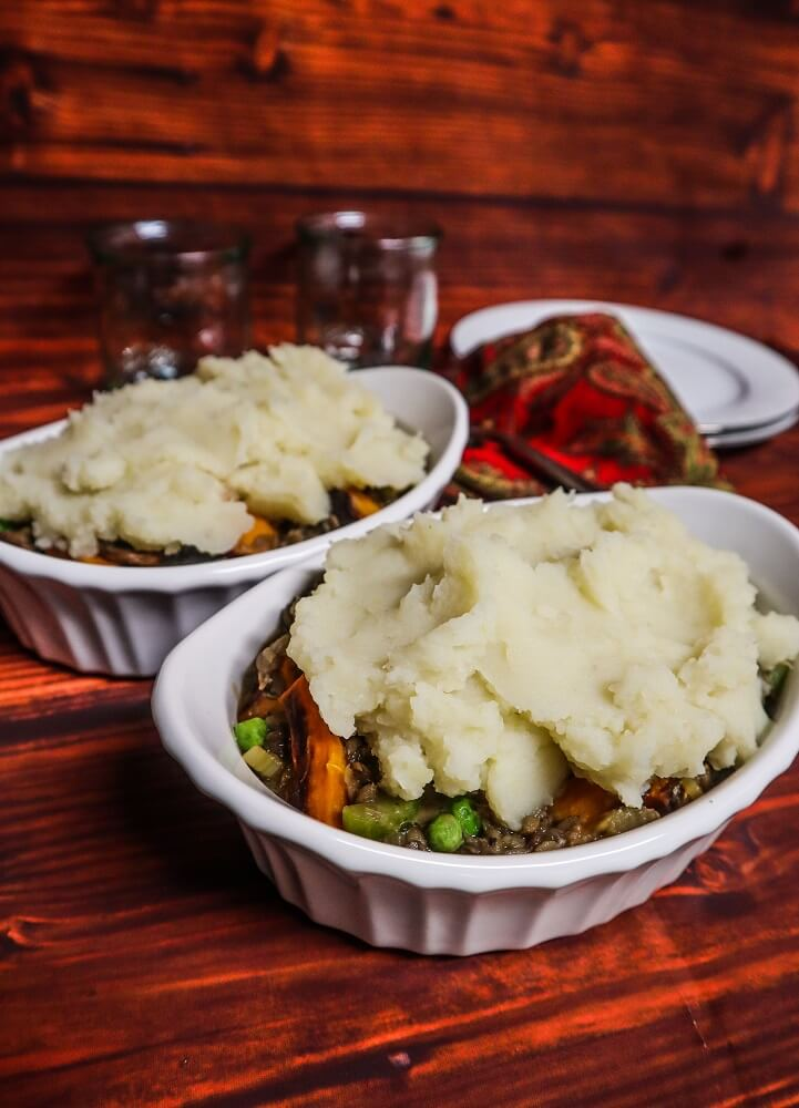 Vegan Winter Lentil Shepherd's Pie