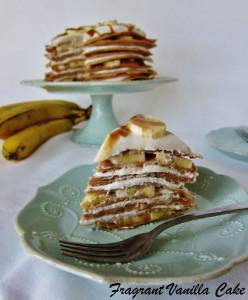 Vegan Banana Caramel Crepe Cake 4