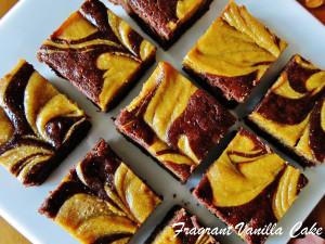 Vegan Pumpkin Cheesecake Swirl Brownies 3
