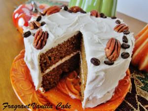 Vegan Pumpkin Spice Layer Cake 3