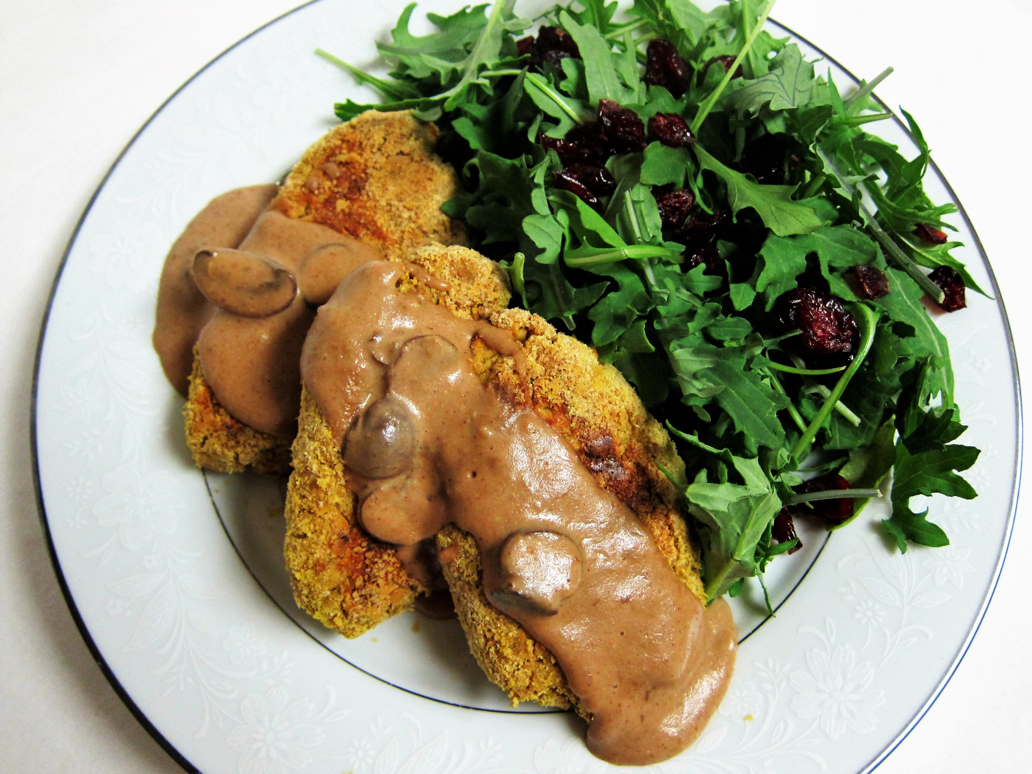 Chickpea Cutlets and Mushroom Gravy