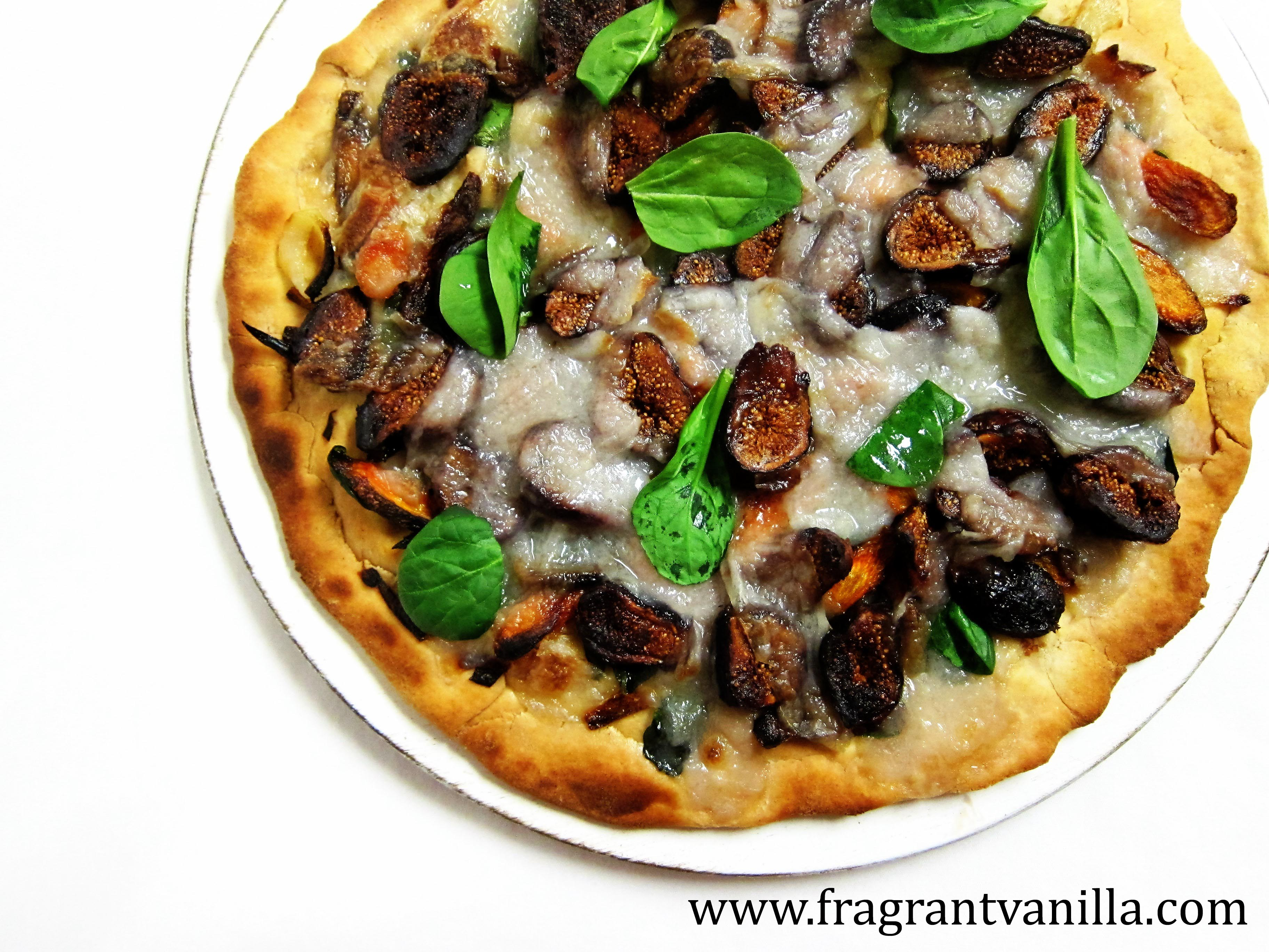 Vegan Fig and Roasted Carrot Pizza