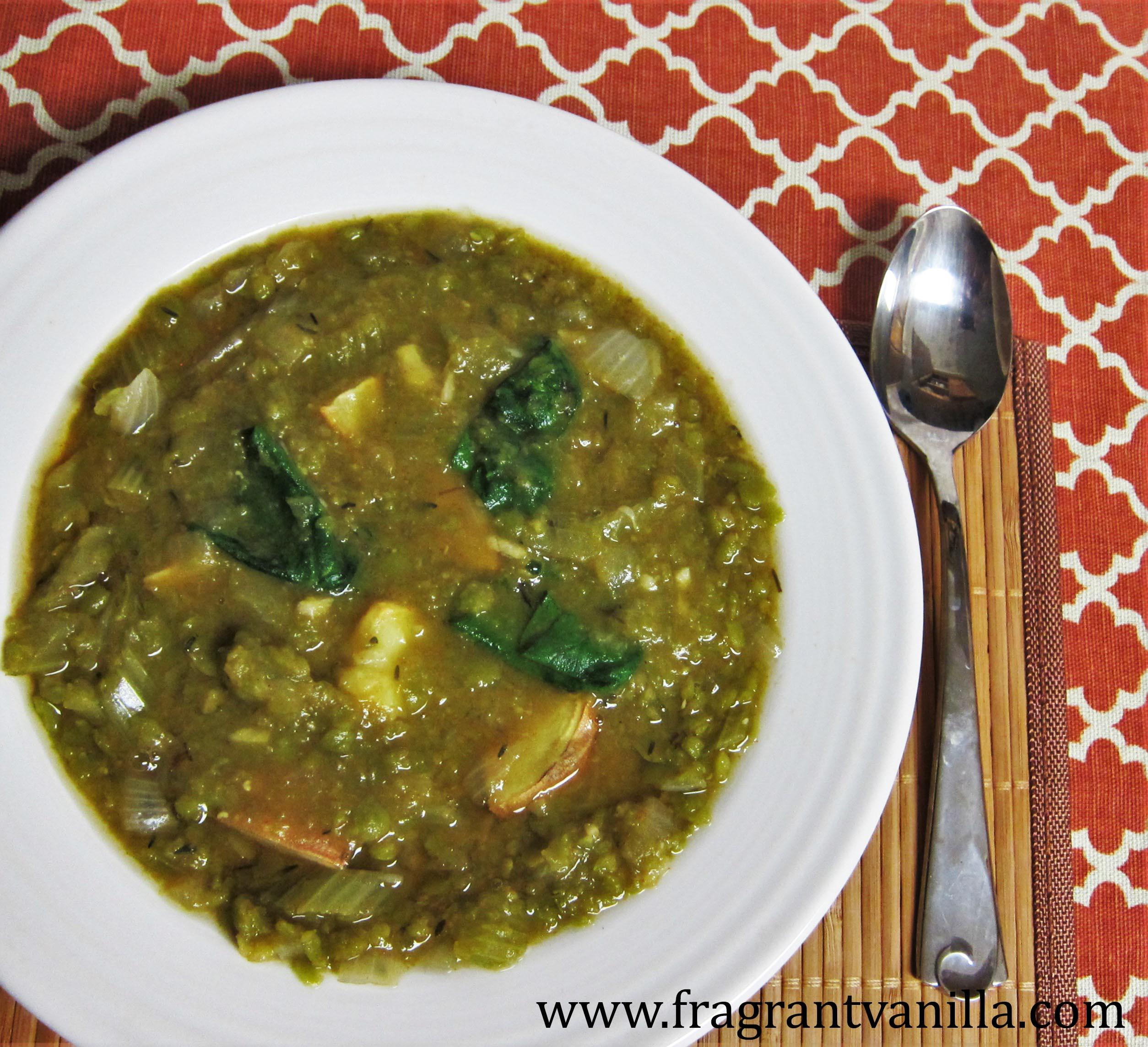 Smokey Vegan Split Pea Soup