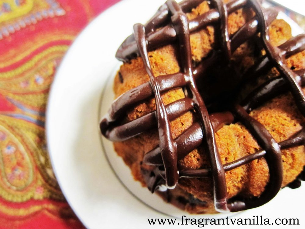 Vegan Chocolate Chip Bundt Cake For One