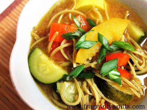 Veggie Edamame Noodle Bowl