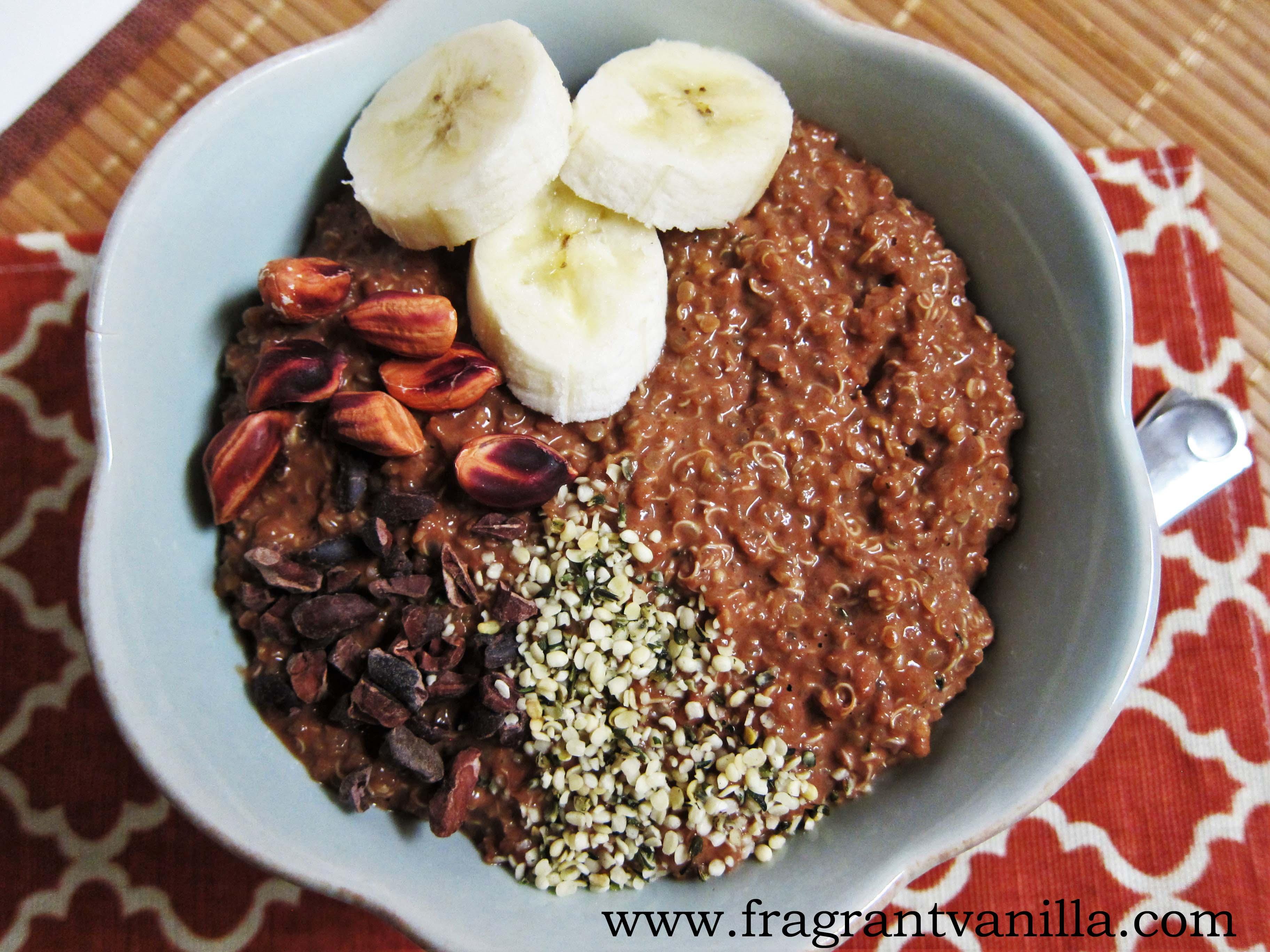 Funky Monkey Quinoa Breakfast Porridge