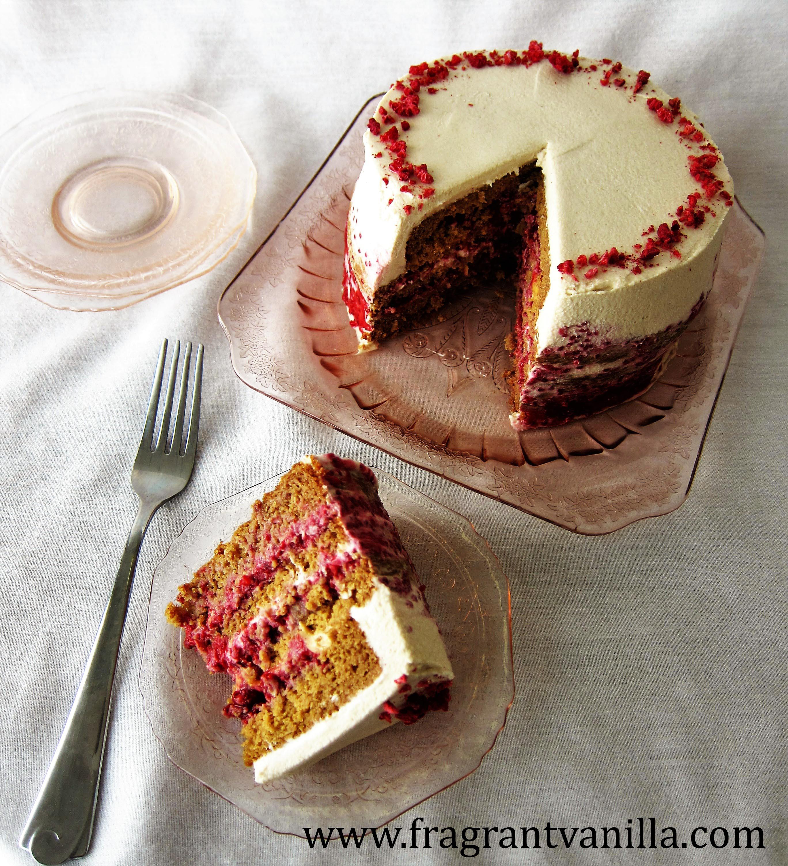 Vegan PB & J Layer Cake and 5 Year Blogaversary