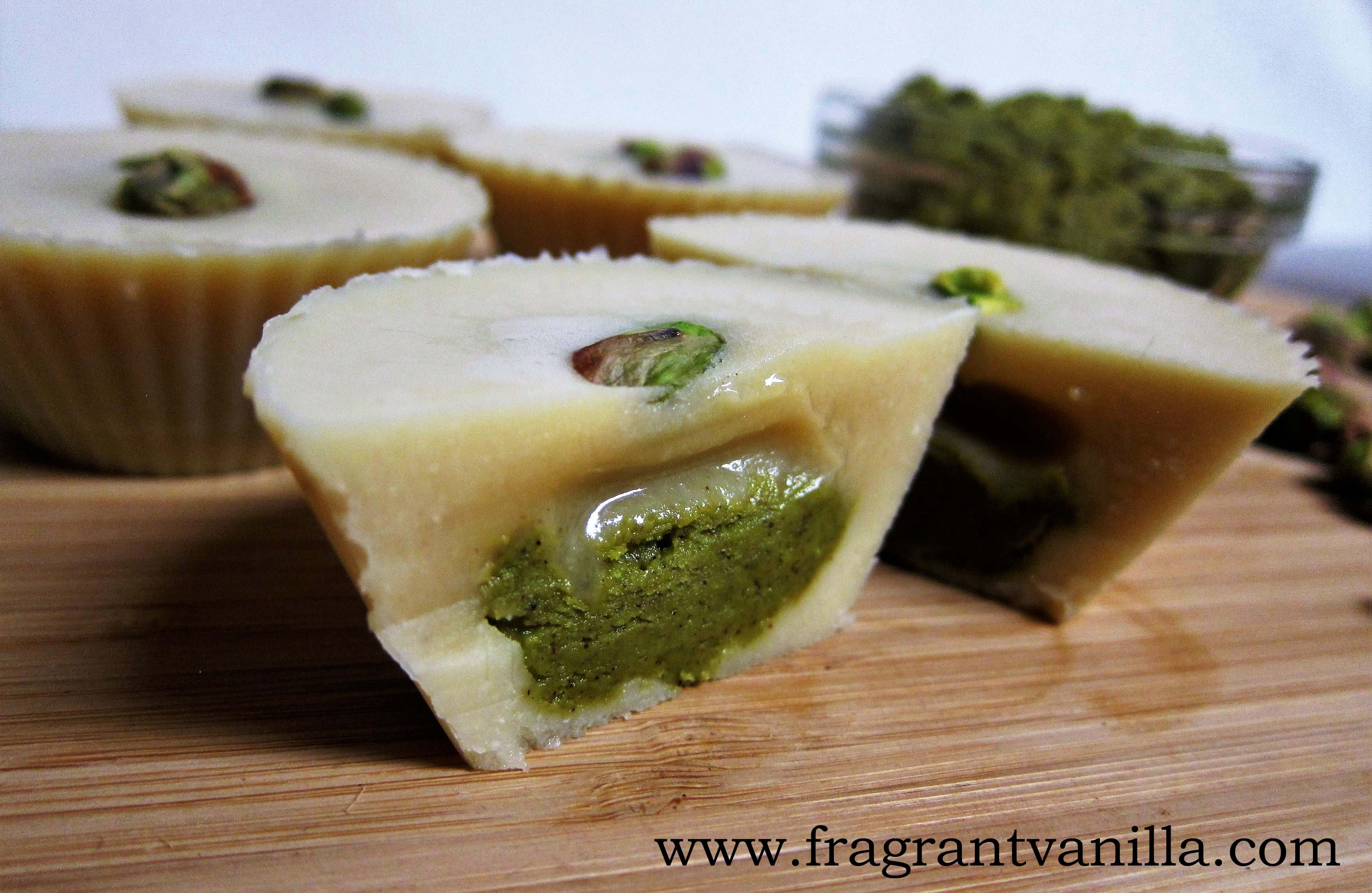 Raw White Chocolate Pistachio Butter Cups