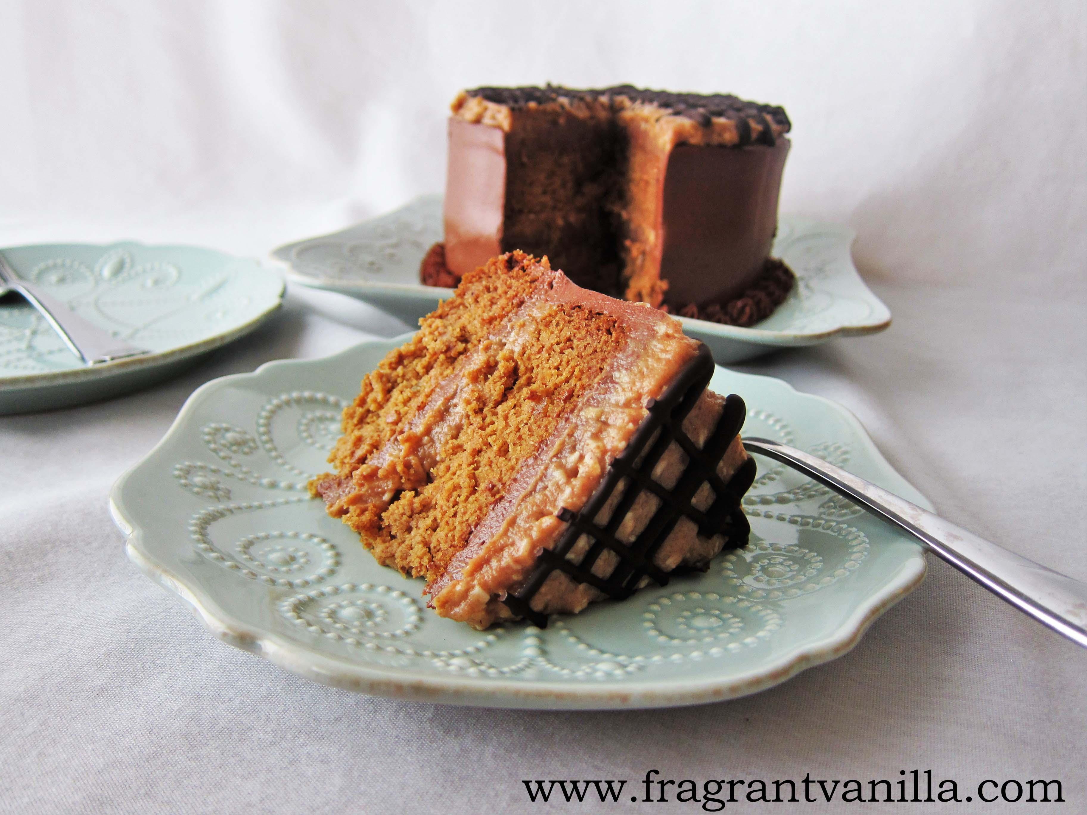 Vegan Samoa Layer Cake