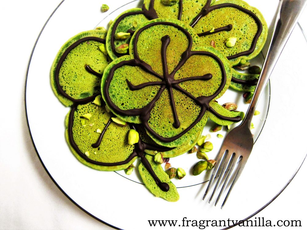 Vegan Irish Shamrock Pancakes | Healthy Vegan St. Patrick's Day Recipes You Can Make | vegan st patricks day recipes | vegetarian st patrick's day