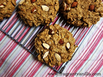 Almond Oatmeal Cookies 4
