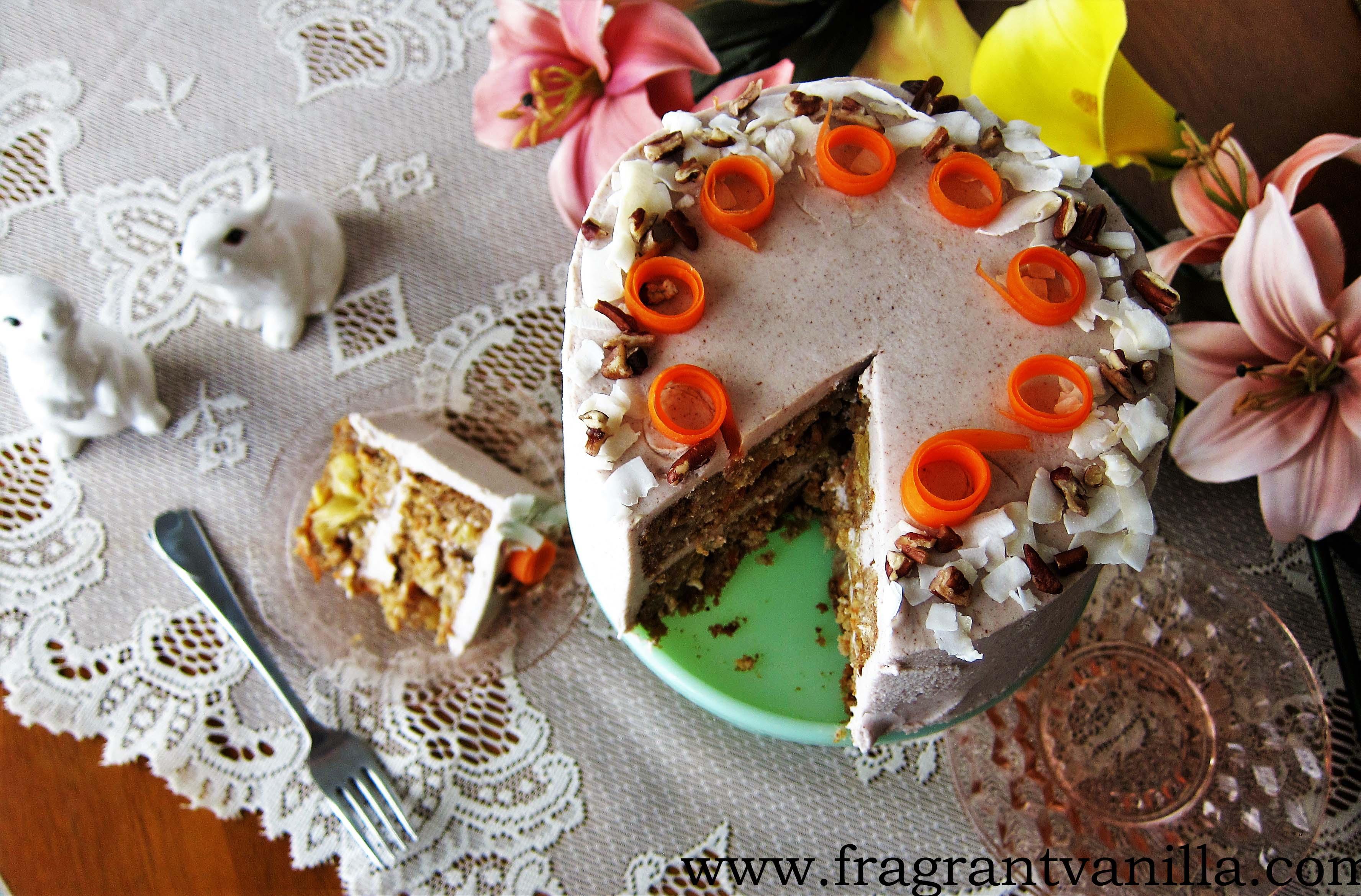 Vegan Festive Carrot Cake