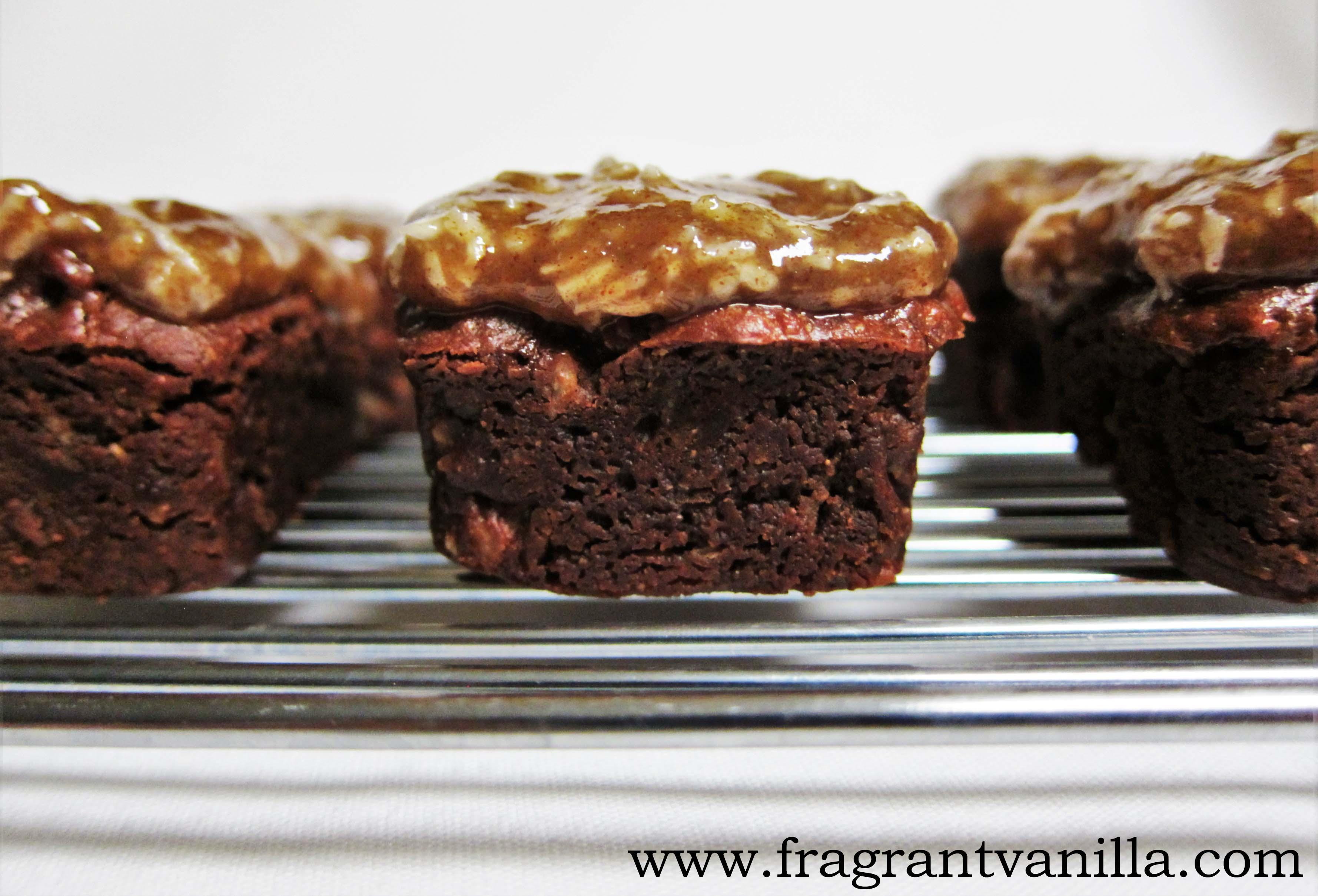 Mini Vegan German Chocolate Brownies