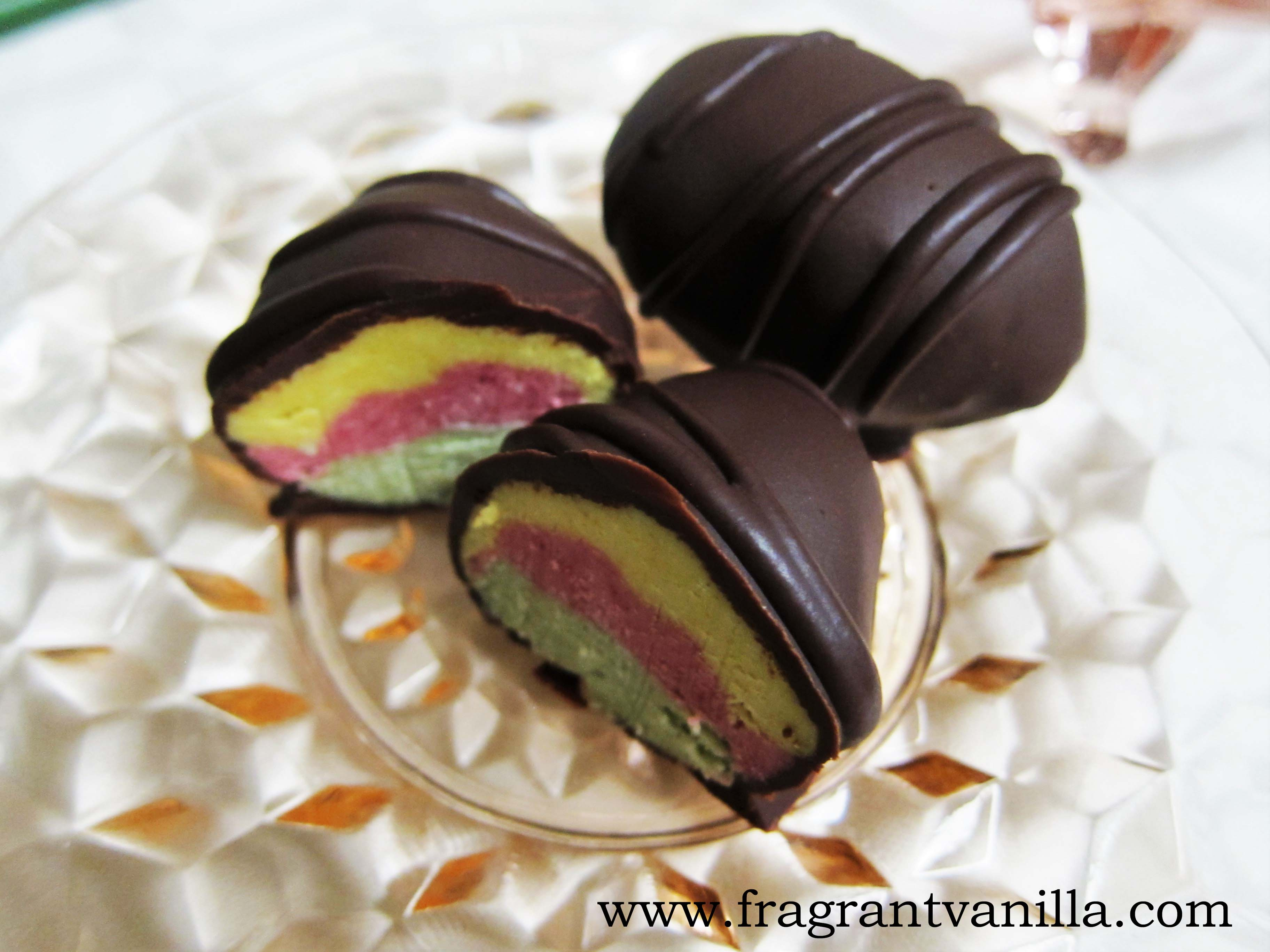 Raw Vegan Tie Dye Cream Eggs