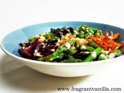 Black Bean Quinoa Spring Veggie Bowl