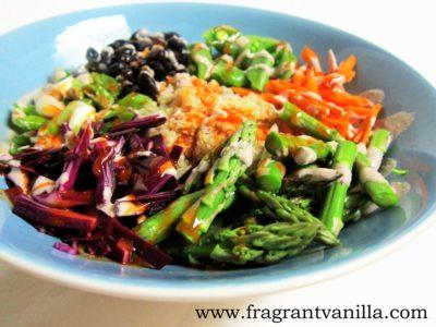 Black Bean Quinoa Spring Veggie Bowl 2